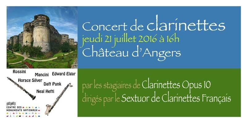 Clarinettes opus 10 Angers
