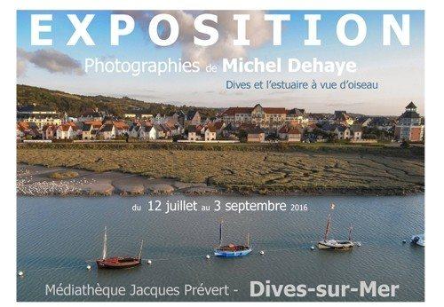 Dives et l'estuaire à vue d'oiseau photographies Michel Dehaye Dives-sur-Mer