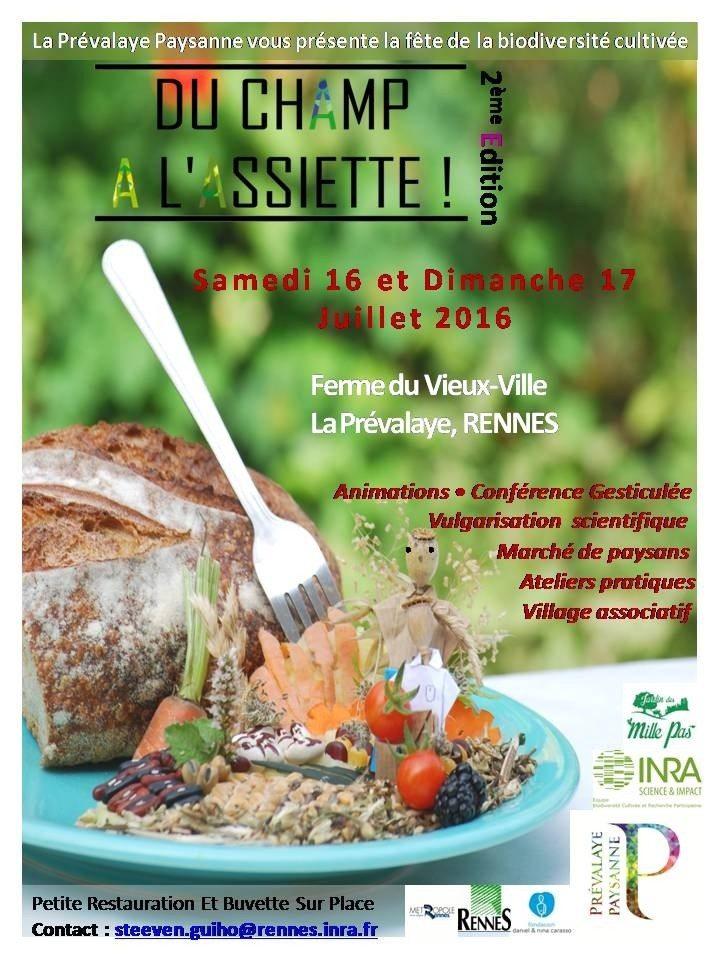 Du champ à l'assiette #3 fête de la biodiversité cultivée Rennes