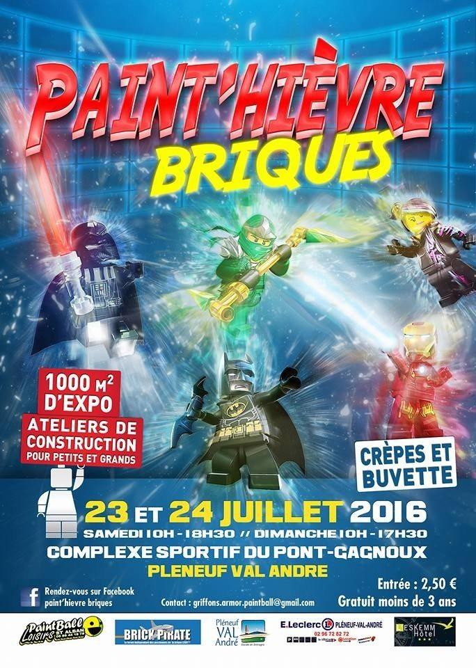 Exposition de Lego Paint'hièvre briques Pléneuf-Val-André