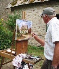 Exposition démonstration de peinture Paysages de Brière Saint-Lyphard