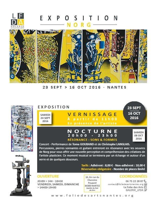 Exposition n° 16 Norg plasticien Nantes