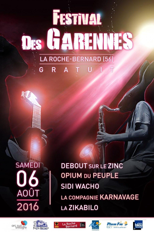 Festival des Garennes 2016 La Roche-Bernard