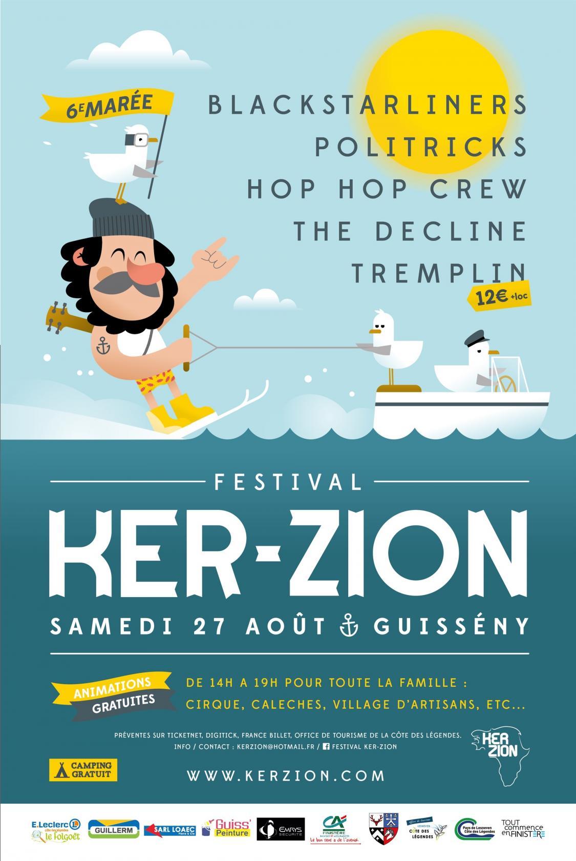 Festival Ker-zion musique actuelle Guissény