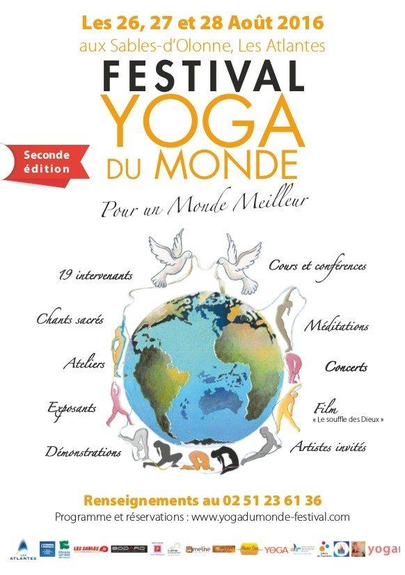 Festival yoga du monde Pour un monde meilleur Les Sables-d'Olonne