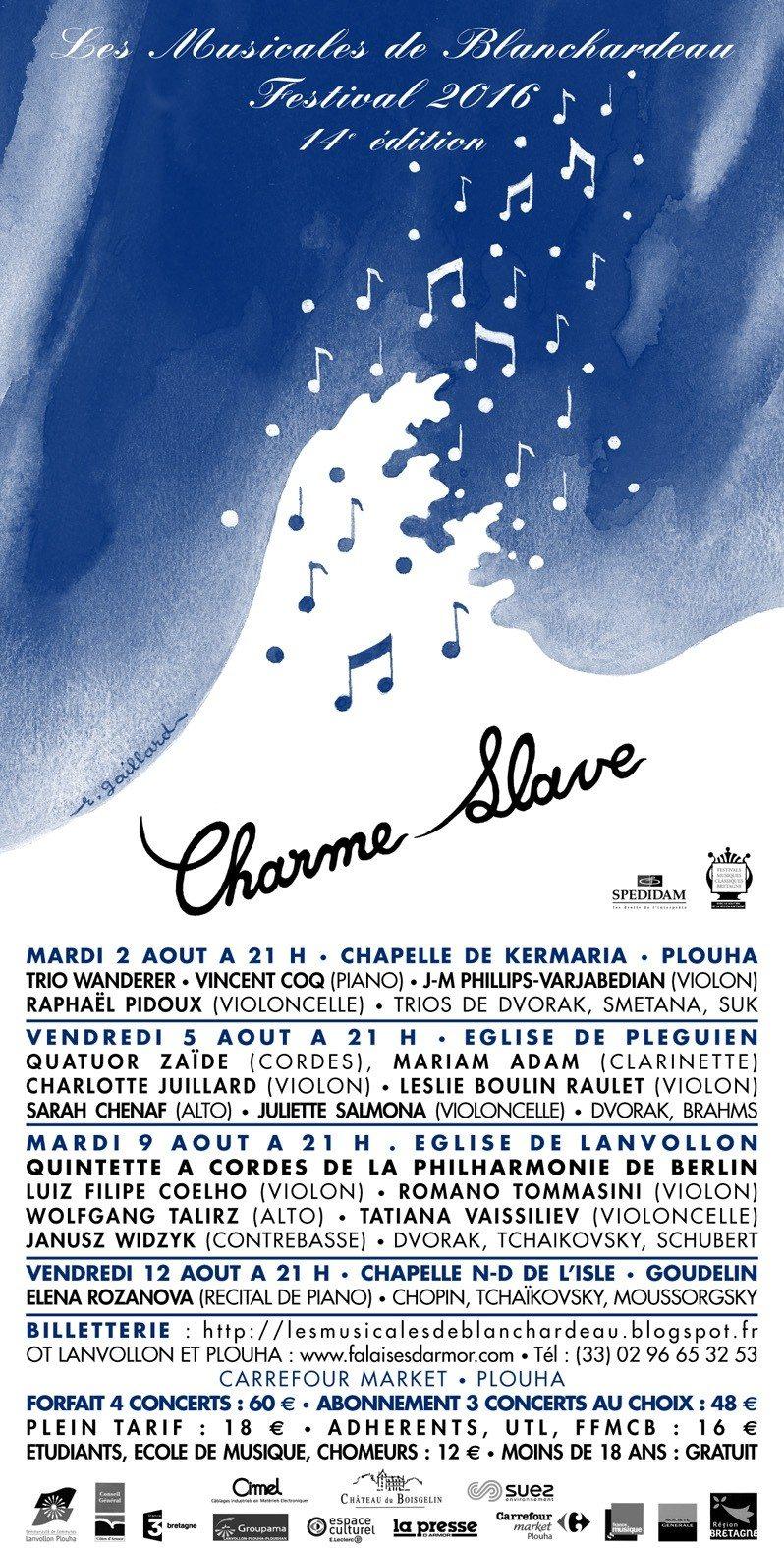Les Musicales de Blanchardeau 14e édition Charme slave Plouha