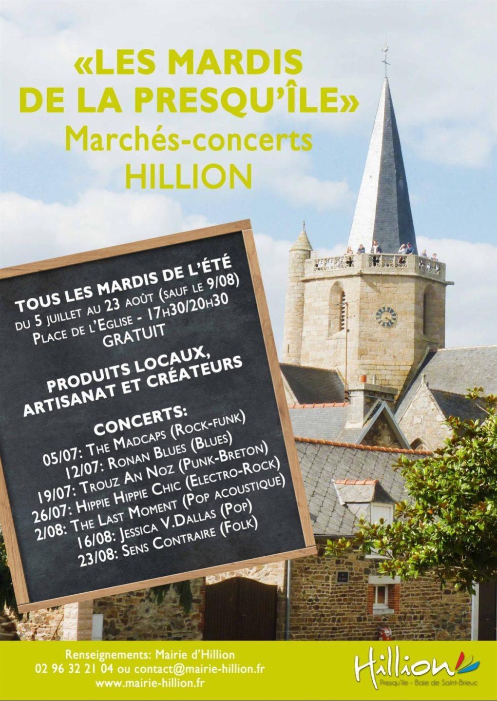 Mardis de la Presqu'île concert gratuit Hillion