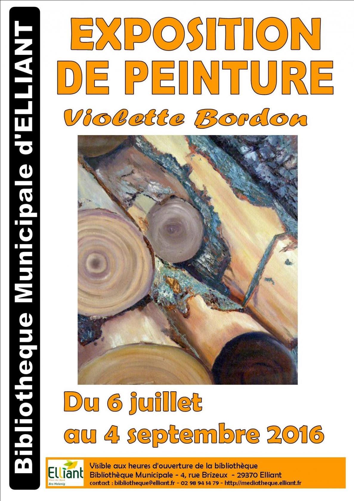 Peintures de Violette Bordon Elliant