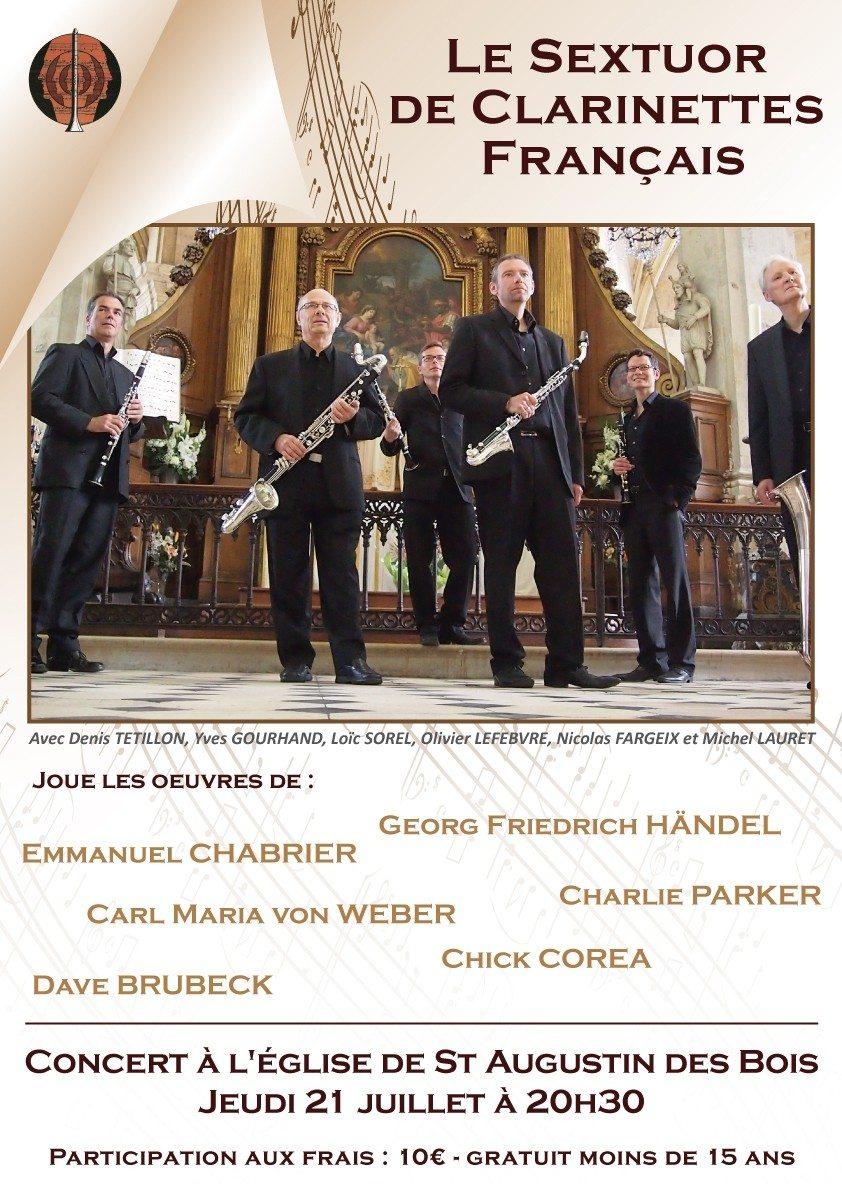 Sextuor de clarinettes français Saint-Augustin-des-Bois