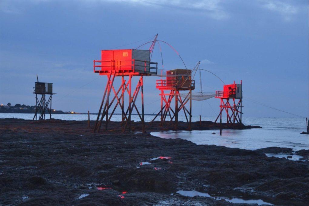Spectacle son et lumières autour des pêcheries et feu d'artifice Saint-Michel-Chef-Chef