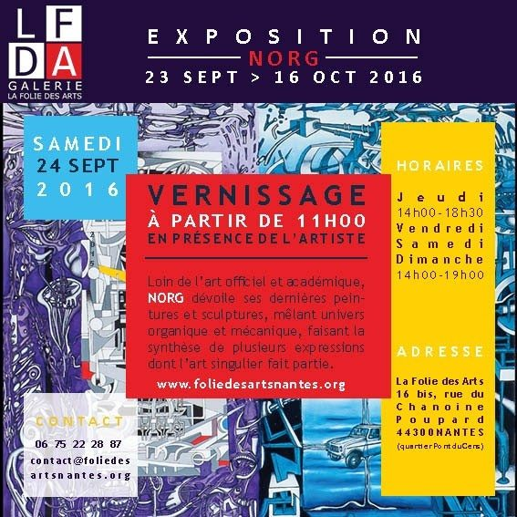 Vernissage l'exposition n°16 Norg Nantes