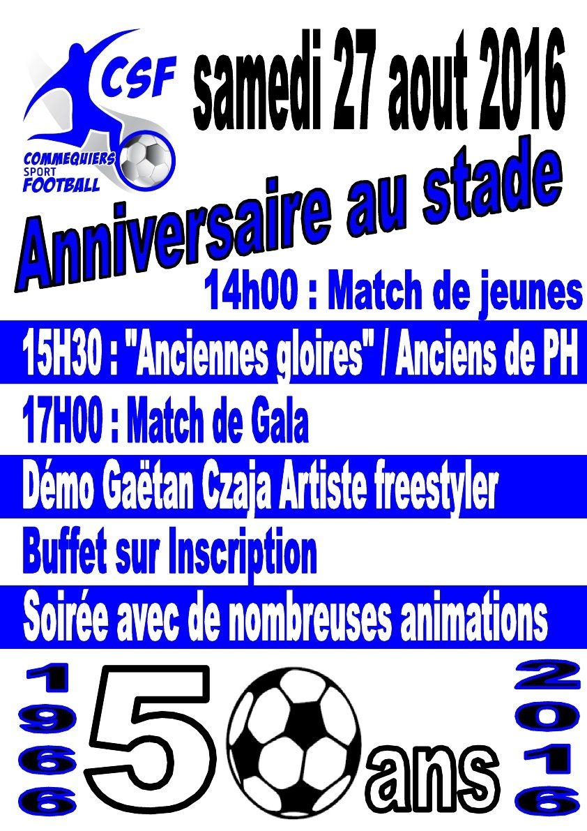50 ans du Commequiers sport football Commequiers