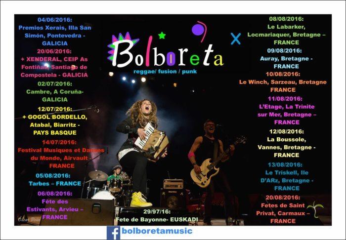 En attendant l'album en 2017, 2ème tournée française pour Bolboreta