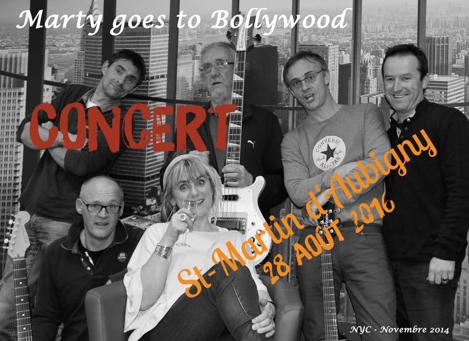 Apéro-concert de Marty goes to Bollywood Saint-Martin-d'Aubigny