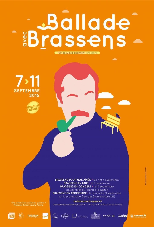 Ballade avec Brassens Rennes