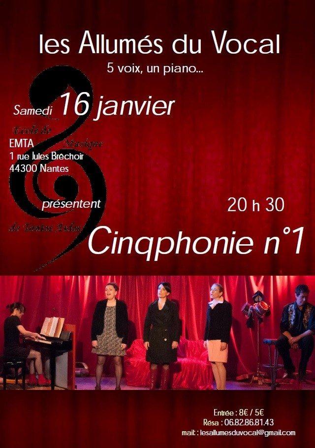 Cinqphonie N°1 (chanson théâtralisée) Nantes