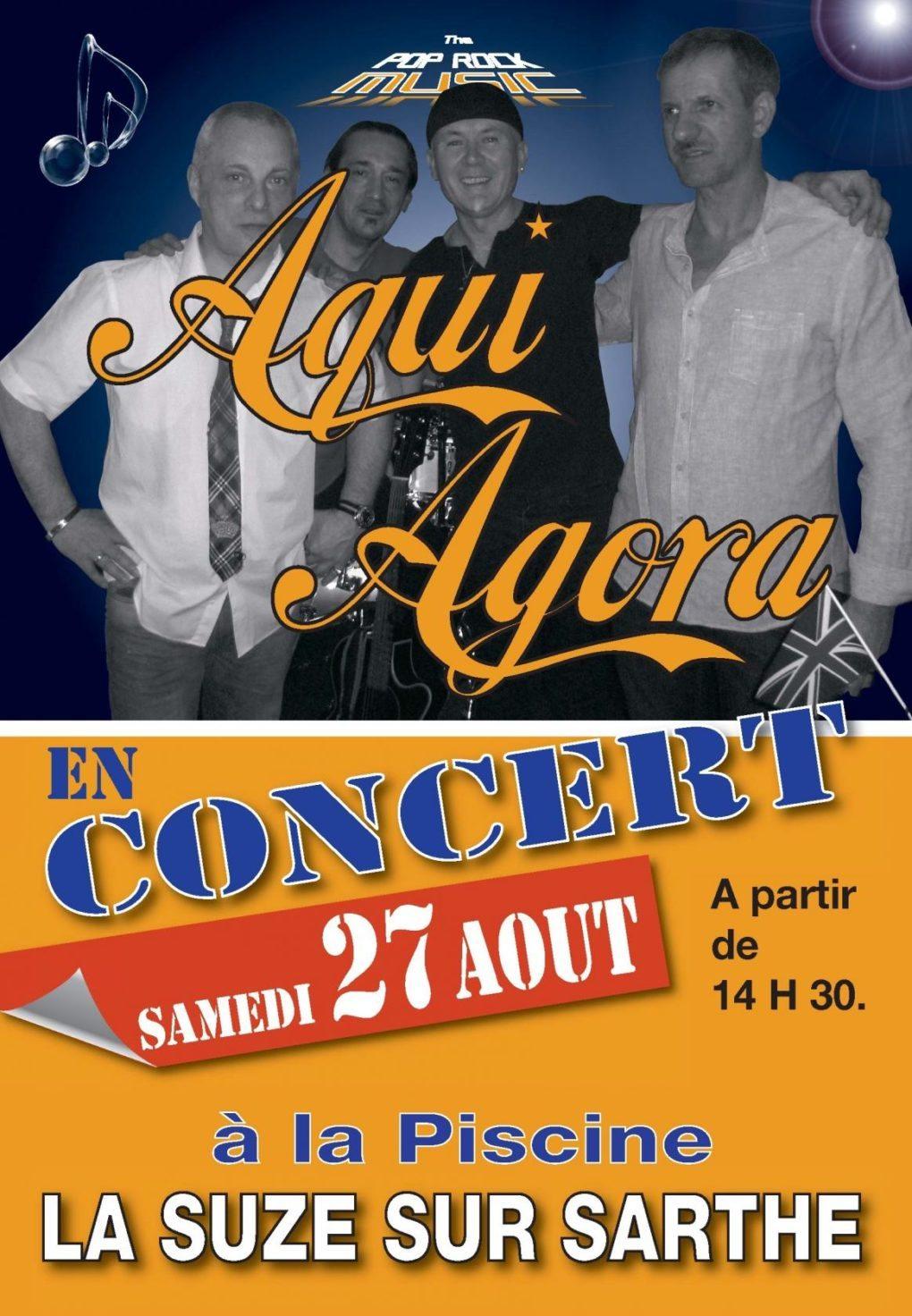 Concert à la piscine avec Aqui Agora La Suze-sur-Sarthe