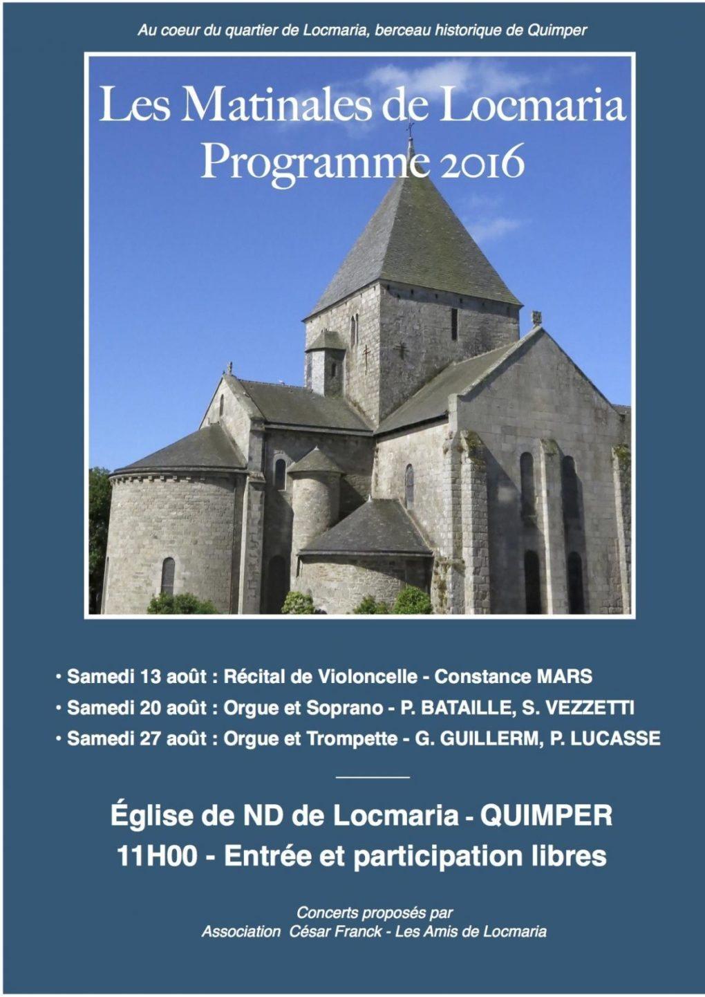 Concert des Matinales de Locmaria Quimper