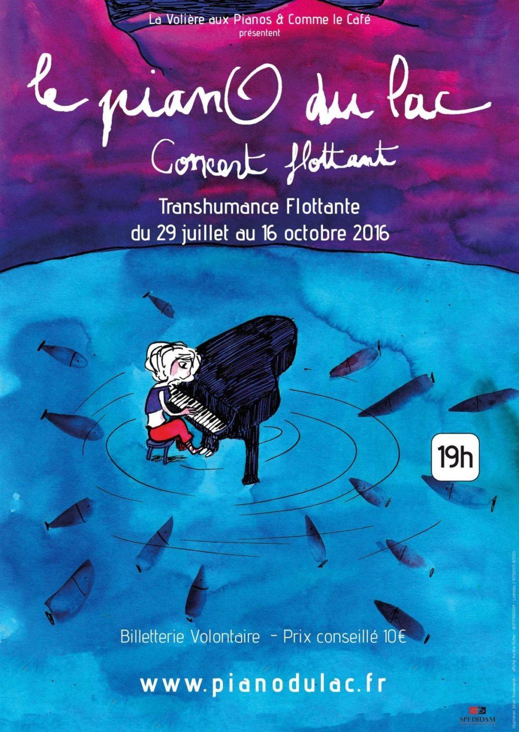Concert flottant : Le Piano du lac Le May-sur-Èvre