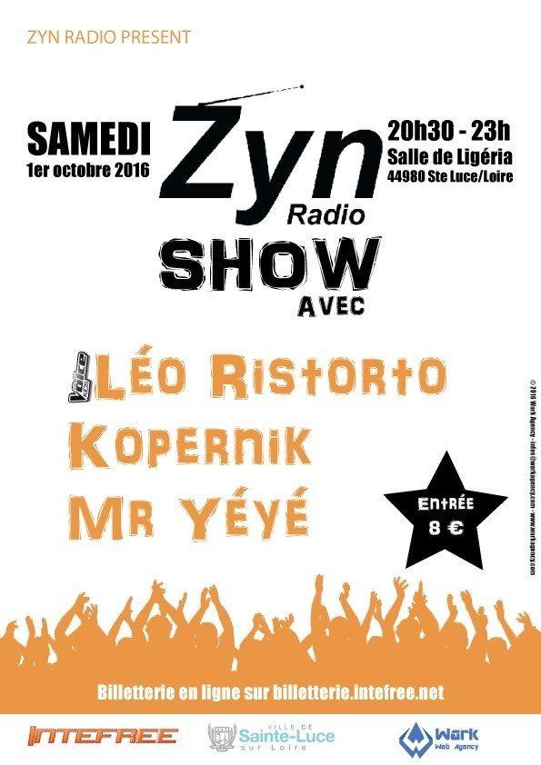 Concert Zyn show avec Léo Ristorto Kopernik Mr Yéyé Sainte-Luce-sur-Loire
