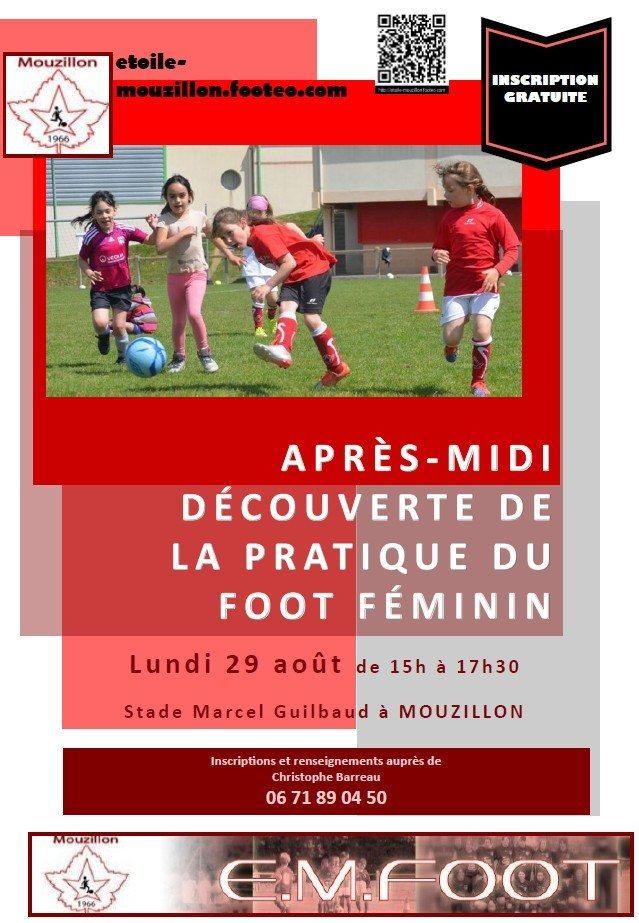 Découverte de la pratique du foot féminin Mouzillon