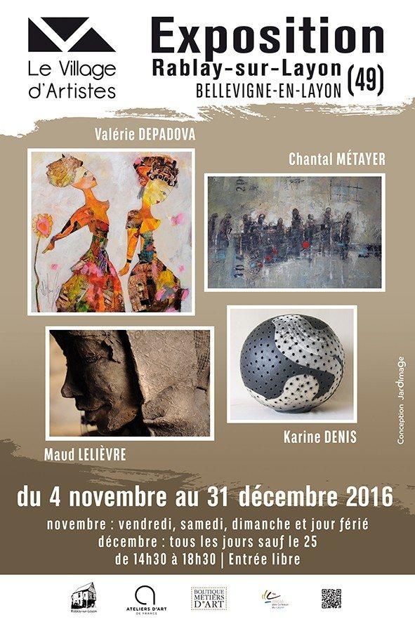 Dernière exposition de la saison 2016 du Village d'Artistes Bellevigne-en-Layon