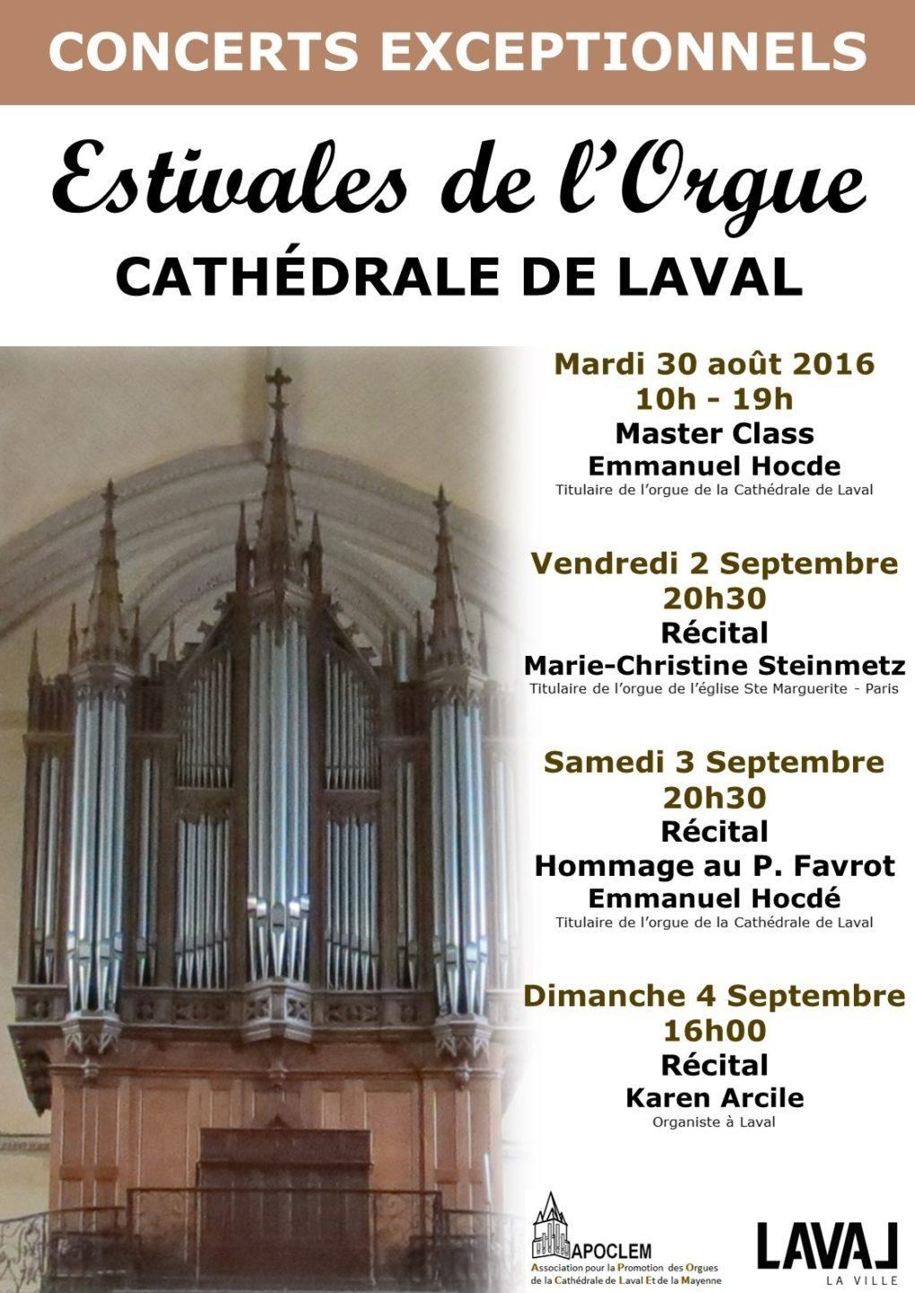 Estivales de l'orgue Laval