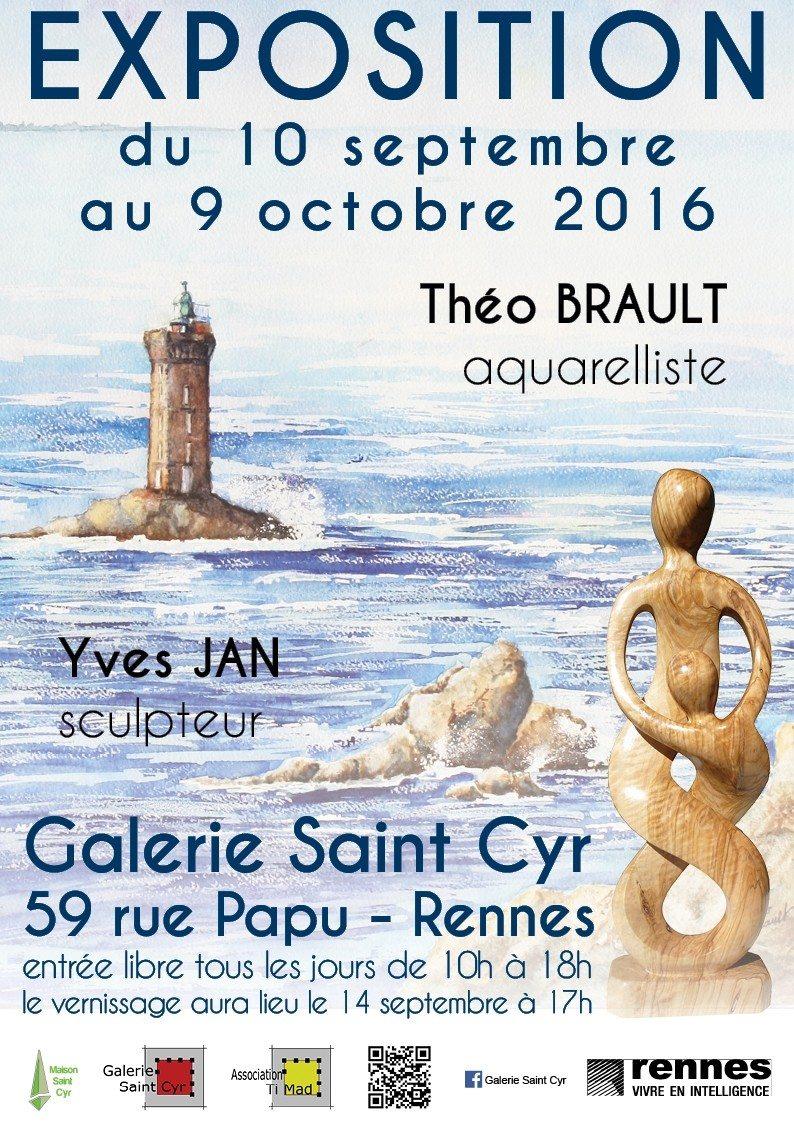 Exposition aquarelle et sculpture sur bois Rennes