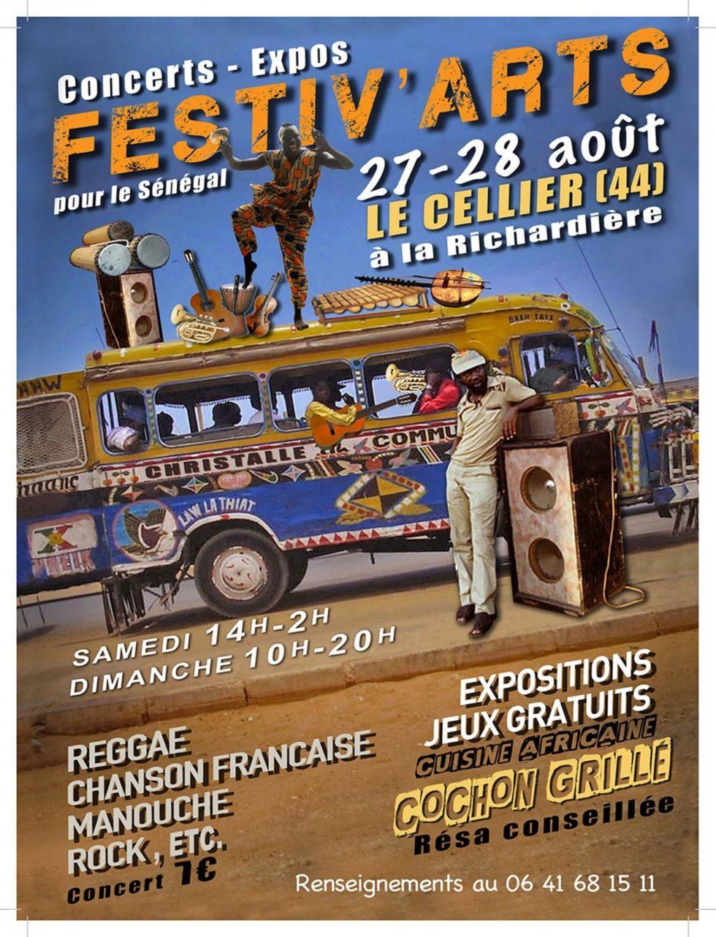 Festiv'arts festival de musique reaggea, rock, musique du monde Le Cellier