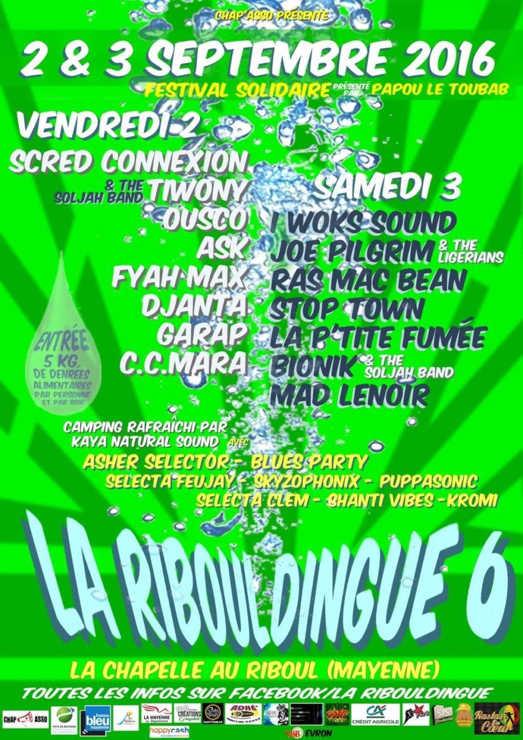 Festival solidaire la Ribouldingue : week-end du cœur La Chapelle-au-Riboul