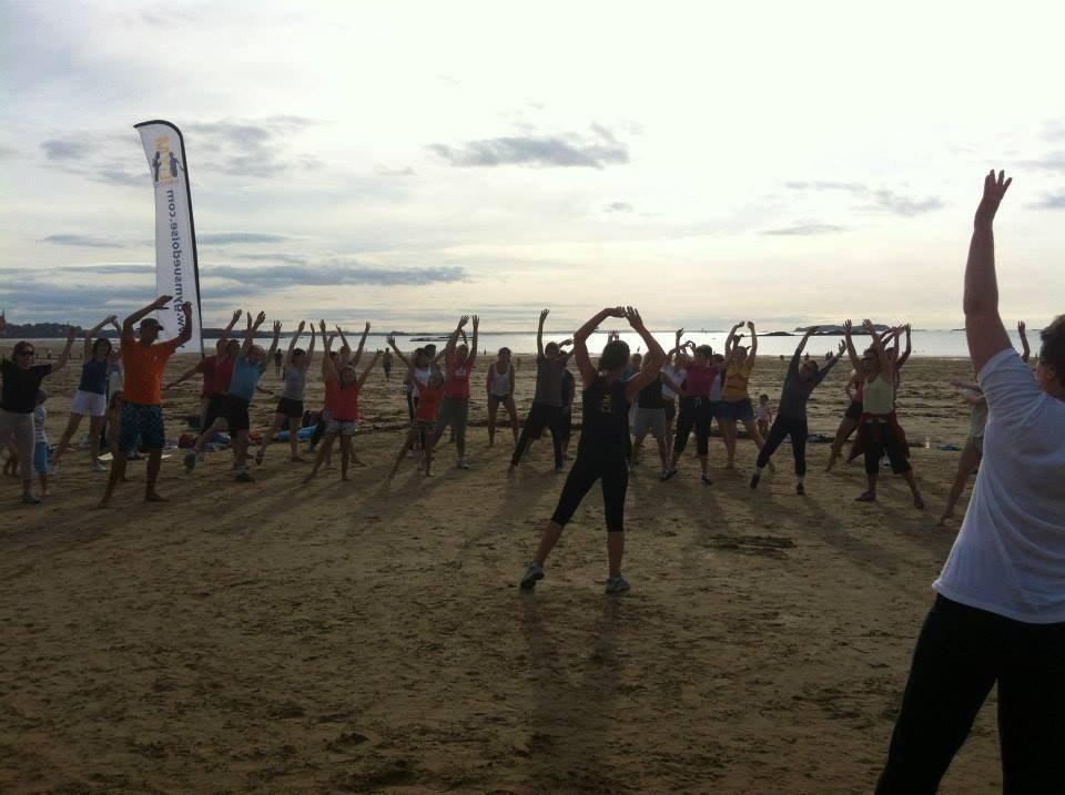 Gym suédoise sur la plage Saint-Malo
