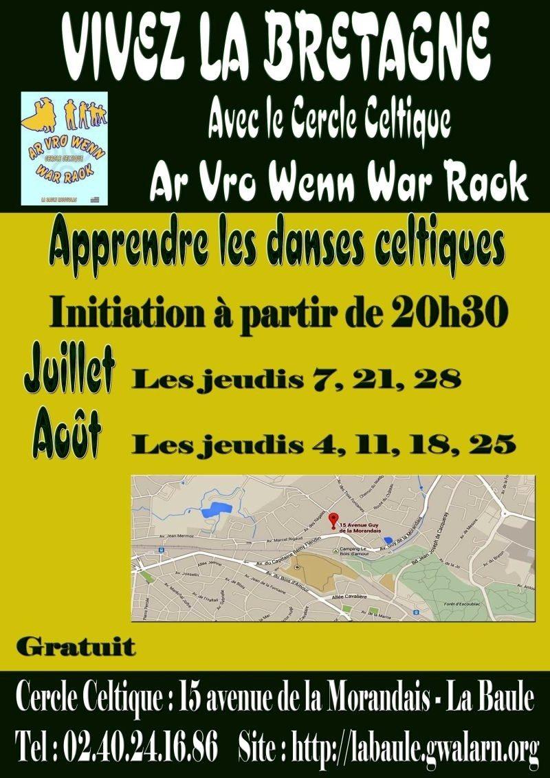 Initiation et perfectionnement aux danses bretonnes La Baule-Escoublac