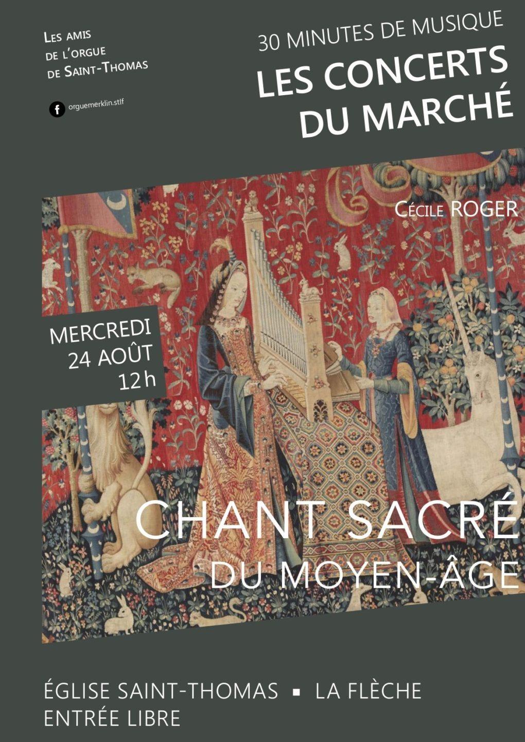 Les concerts du marché, Cécile Roger chante le Moyen-Âge La Flèche
