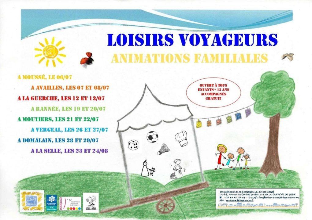 Loisirs Voyageurs : animations familles La Selle-Guerchaise