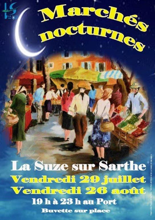 Marché nocturne La Suze-sur-Sarthe