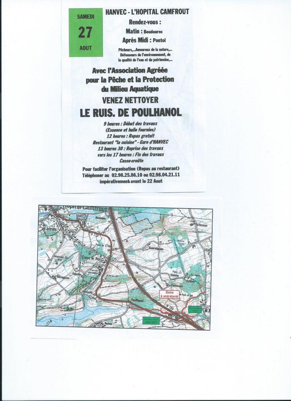 Nettoyage de rivière Le Poulhanol Hanvec