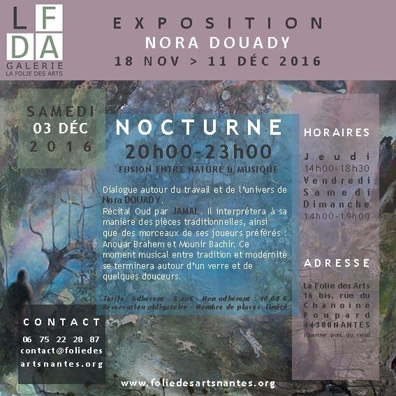 Nocturne autour de l'artiste peintre Nora Douady Nantes