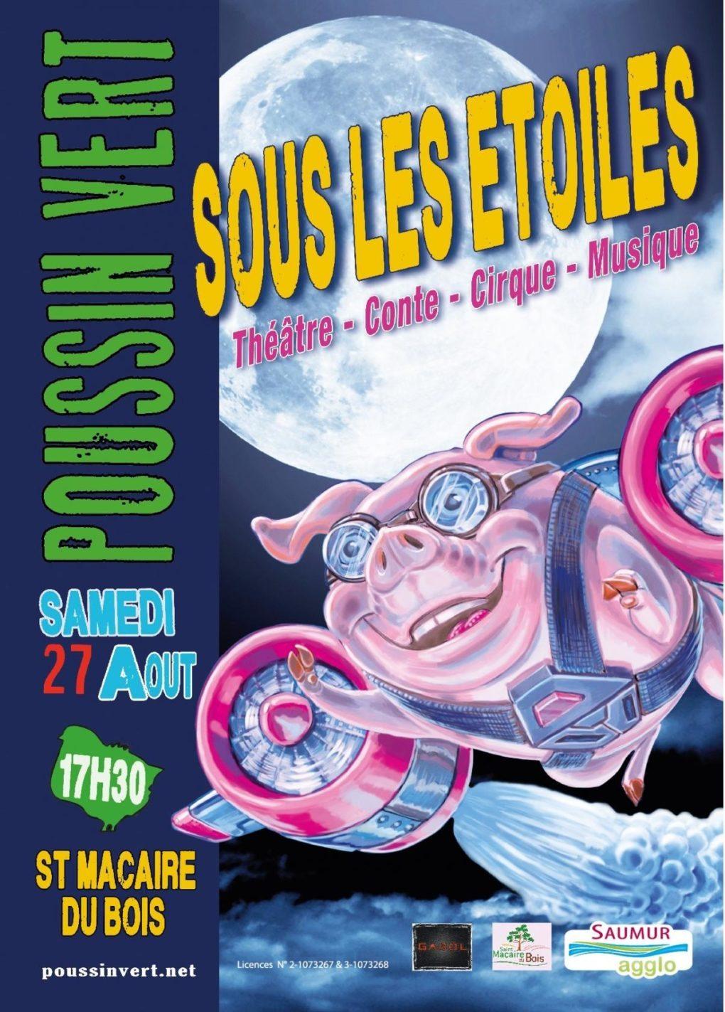 Poussin-Vert Festival de spectacles et de musique Saint-Macaire-du-Bois