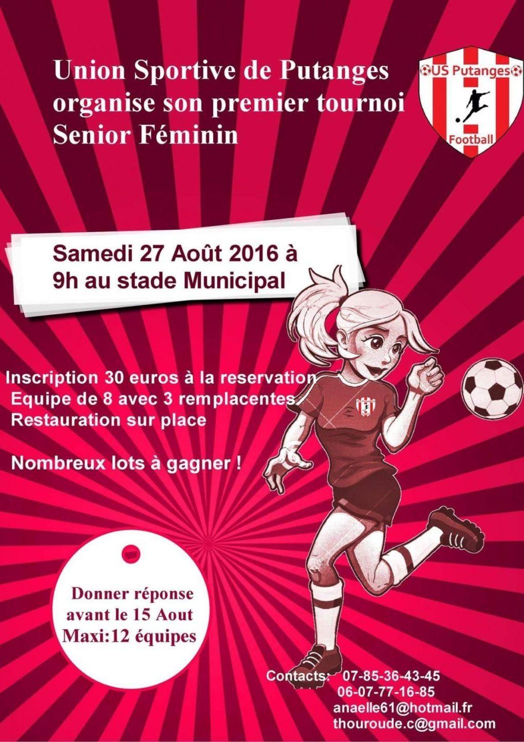 Premier tournoi de foot féminin senior à 8 de l'US Putanges Putanges-le-Lac