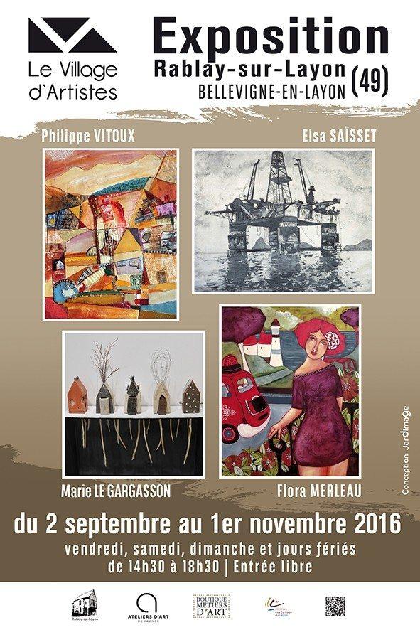 Quatre nouveaux artistes pour la rentrée au Village d'Artistes Bellevigne-en-Layon