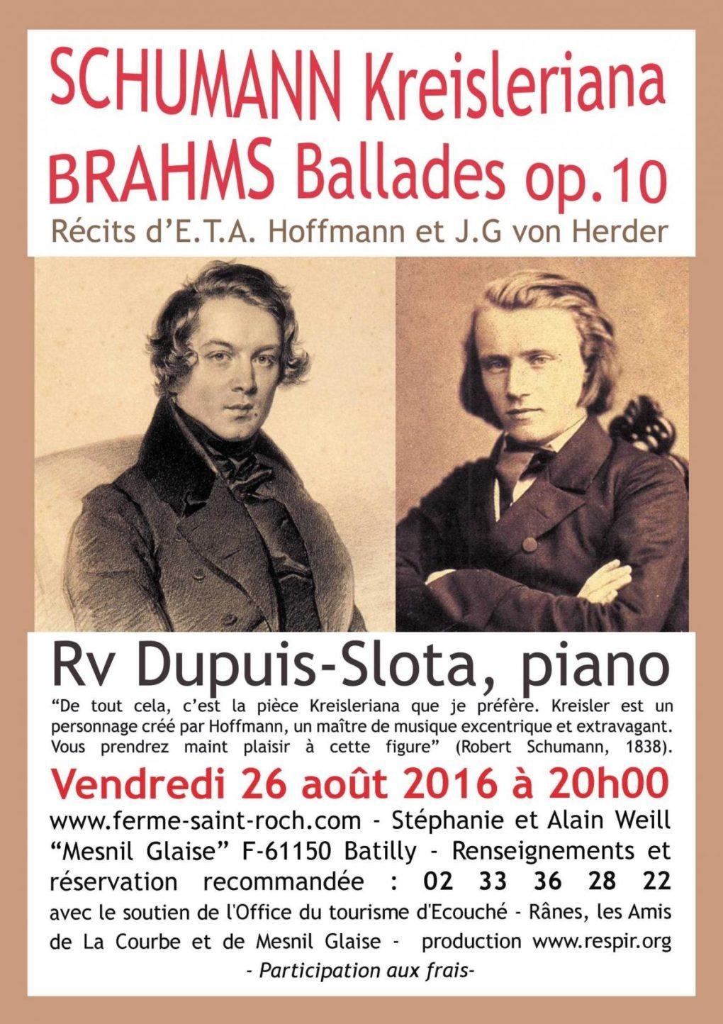 Récital piano autour de Schumann & Brahms Ecouché-les-Vallées