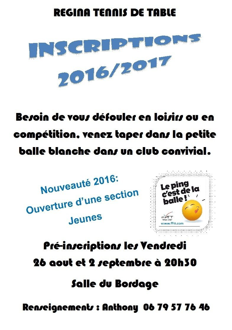 Regina tennis de table Bégrolles-en-Mauges