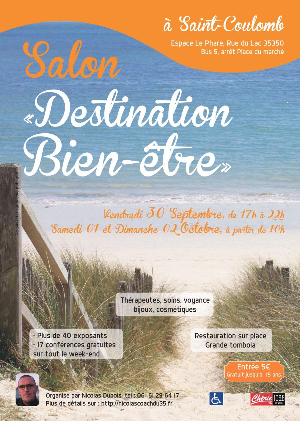 Salon destination bien tre saint coulomb 1 re dition for Salon bien etre rennes