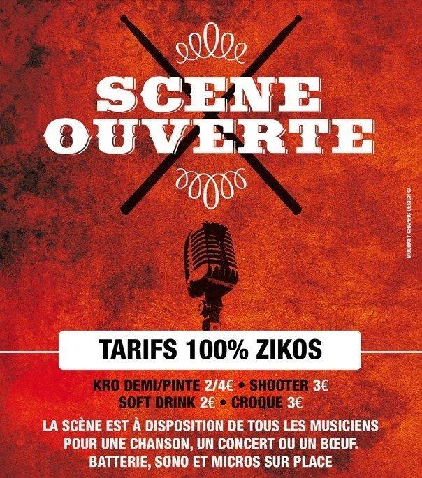 Scène ouverte à tous les musiciens Nantes