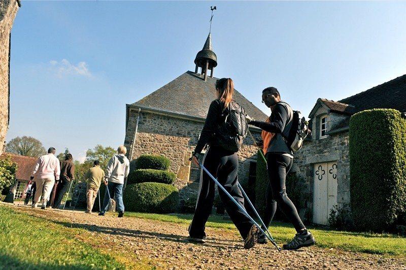 Initiation de marche nordique Bagnoles-de-l'Orne-Normandie