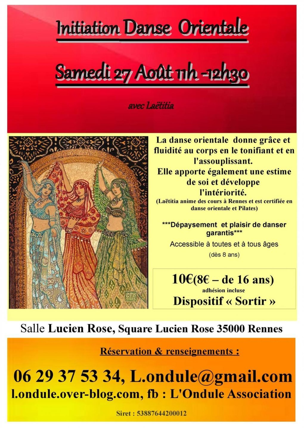 Stage d'initiation à la danse orientale Rennes