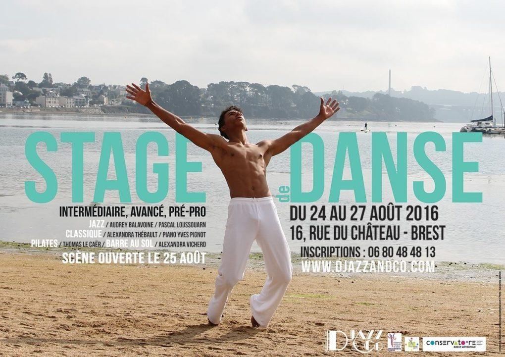 Stage de danse jazz, classique, pilates, barre au sol Brest