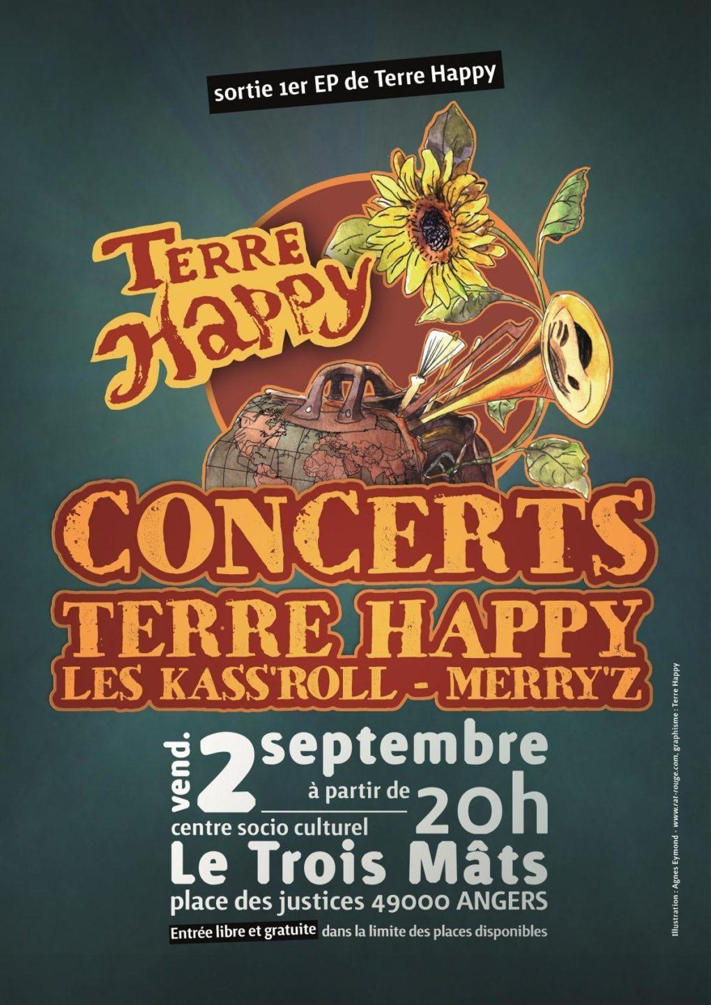 Triple concert au Trois-Mâts Angers