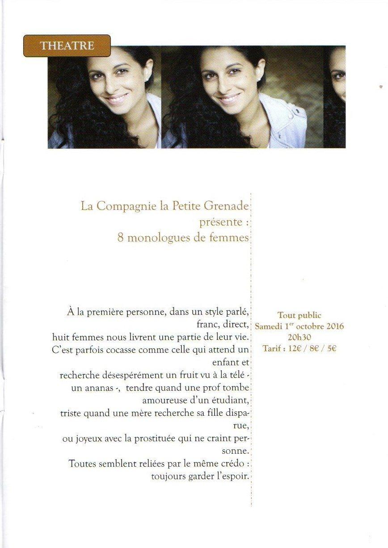 8 Monologues de femmes Chaillé-les-Marais
