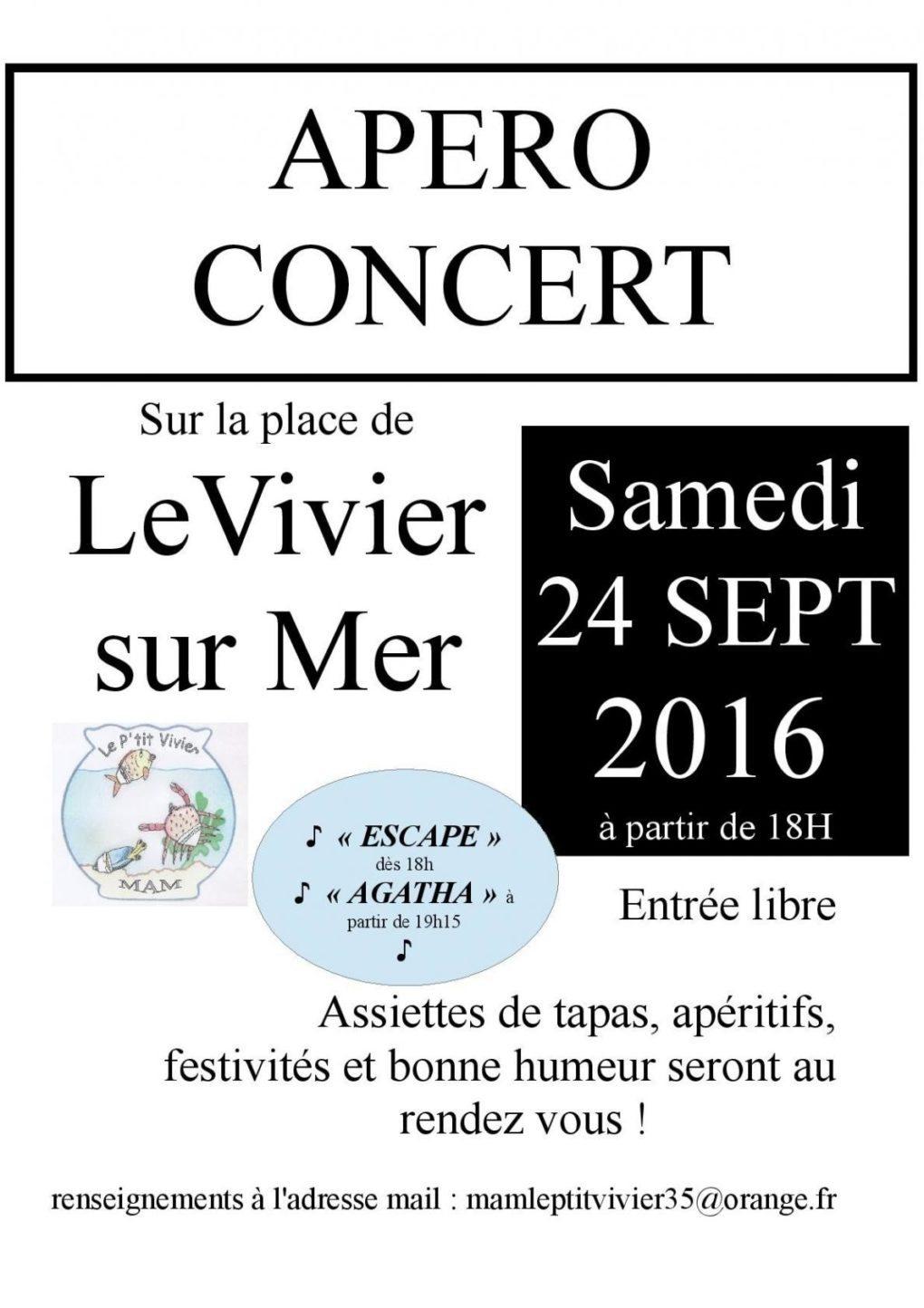 Apéro concert : Agatha, Escape Le Vivier-sur-Mer